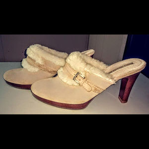 Enzo Angiolini Shoes - Enzo Angiolini Suede/ Shearling Clogs Womans size7
